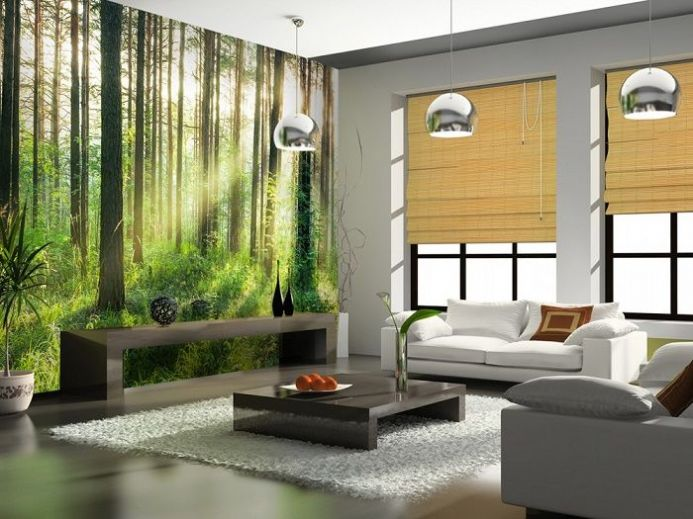 Non woven Sunset in the Woods wall mural Wallpapers